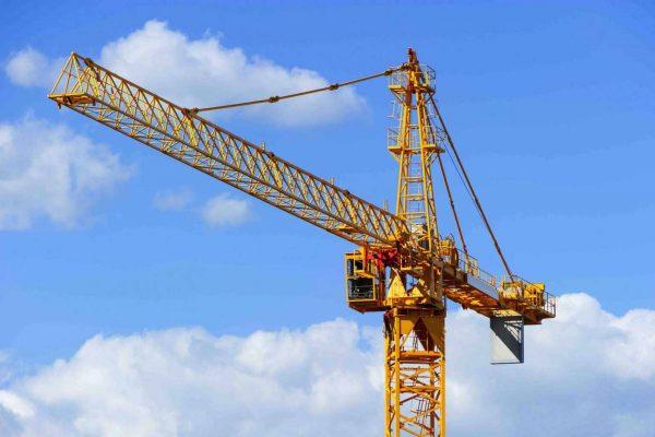 Crane in sky